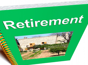 Image of a spiral-bound retirement workbook
