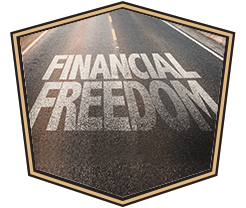 financial freedom painted on highway