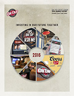 On Tap Credit Union's 2015 Annual Report Front Cover