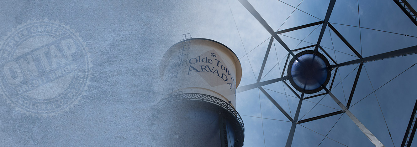 photo of old town arvada water tower